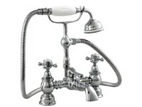 Heritage Bathrooms Hartlebury Shower Mixer with Standpipes - Chrome