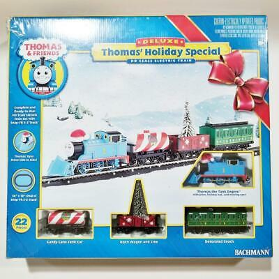 Bachmann 00682 Thomas Holiday Special Train Set HO Scale Electric Christmas Tank
