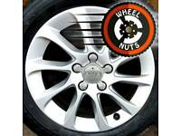 "16"" Genuine Audi alloys Golf Caddy etc excel cond good tyres."