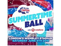Capital Summertime Ball tickets (x 6) great lower tier seats