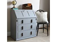 Lovely Vintage Retro Shabby Chic Painted Bureau Desk. We deliver