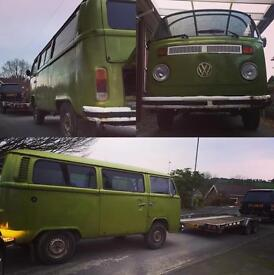 Vw t2 late bay camper project