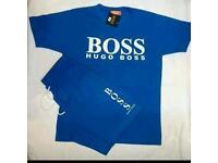 Xl hugo boss t-shirt & short set brand new