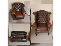 Chesterfield Furniture Sofa and Armchairs