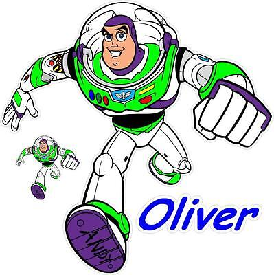Buzz Lightyear Kinder Wandkunst Aufkleber DVD Figuren Spielzeug - Buzz Lightyear Kostüm Kinder