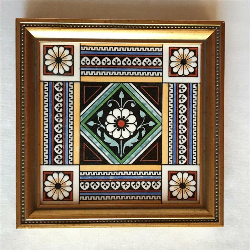 Framed Antique Minton