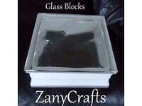 Brand New Glass Blocks Ideal for Crafting With or Without Holes