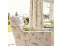 "LAURA ASHLEY APPLE ORCHID CURTAINS W88""xL90"""