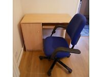 Computer Desk and Office Chair Combo
