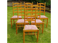 Fabulous set of Six Ercol Dining Chairs