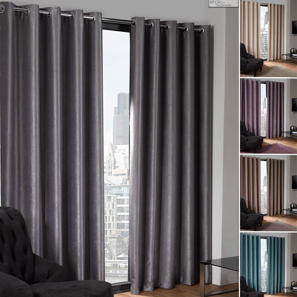 Ring Top Eyelet Thermal Blackout Curtains To Block Sunlight In 8 Sizes Ebay