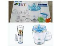 Phillips Avent 3 in 1 Set, Steriliser & Mini-blender & Breast pump Gift set. FREE LOCAL DELIVERY
