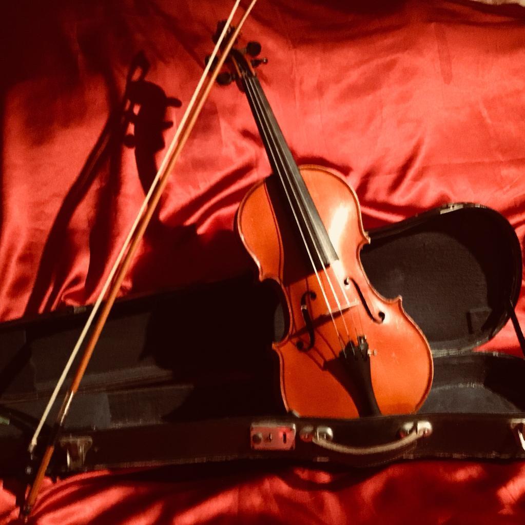 Vintage Stradivarius copy Violin 4/4 Set German Made - Play Ready