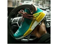 100% Authentic BNIB Pharrell Williams x Adidas Human Race NMD TR PW - Teal Blue Hu Green