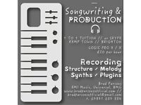 SONGWRITING // PRODUCTION // MUSIC // LESSONS // LOGIC PRO X // 1 To 1 //BEGINNERS // INTERMEDIATE
