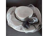 White and black hat - Wedding Races etc