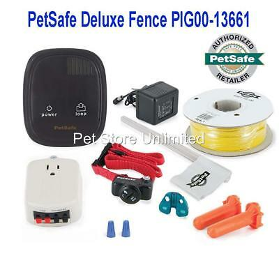 PetSafe Deluxe In-Ground Pet Fence Containment PIG00-13661 + Surge Protector Pet Guardian Fence