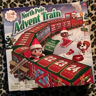 Elf on the Shelf North Pole ADVENT TRAIN Countdown Xmas Calendar Set MIP