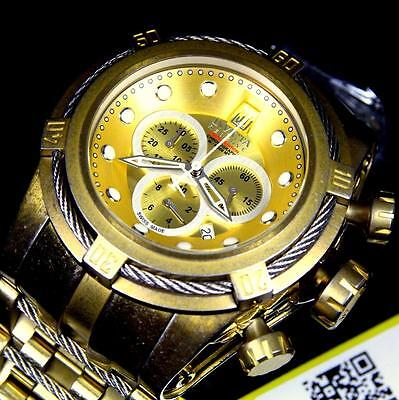 Invicta Jason Taylor Jt Reserve Bolt Distressed Industrial Gold Swiss Watch New