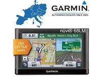 "6"" GARMIN nuvi 68LM Advanced GPS Sat Nav - Lifetime FULL EUROPE 3D buildings MAP (no offers, please)"