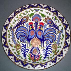 handmade greek seva keramik 24ct plate