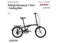 Raleigh Stowaway 7 folding bike for sale