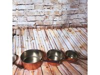 antique brass pots and pans