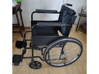 Steel self propelled wheelchair