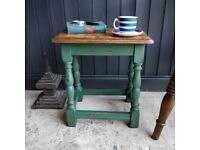 Vintage side table, Sofa table, Side Table, Occasional Table, Painted Furniture, End Table,