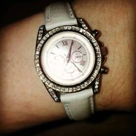 Next diamante rose gold watch