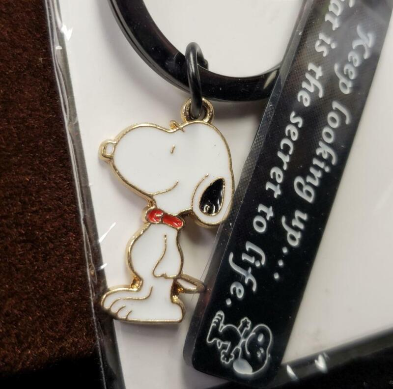 PLITI Peanuts SNOOPY Charm Key Chain Ring MIP ~ Keep looking up / secret to life