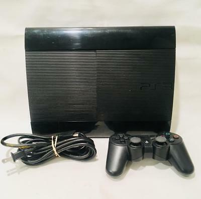 Sony Playstation 3 250GB PS3 CECH-4201B Game System Console 1 Controller Cables