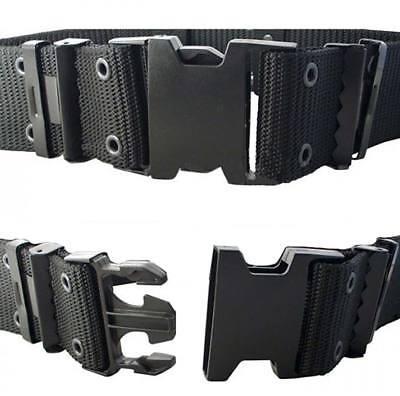 Cinturon LC2 militar negro hebilla rápida 5,5 cm, ceñidor caza seguridad