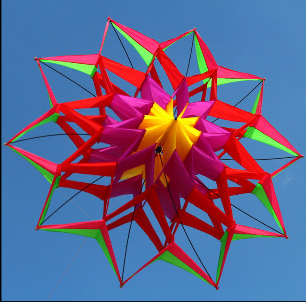 3D LOTUS FLOWER 1.5m KITE SINGLE LINE OUTDOOR TOY FLYING FOR