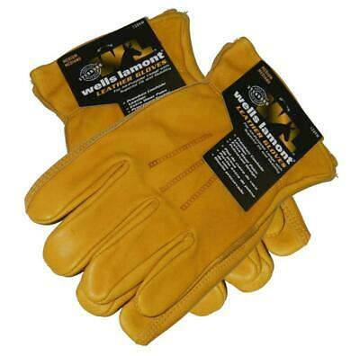 New 2 Pack Wells Lamont All-purpose Usage Cowhide Leather Gloves Medium