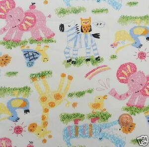 Childrens animal fabric ebay for Children s upholstery fabric