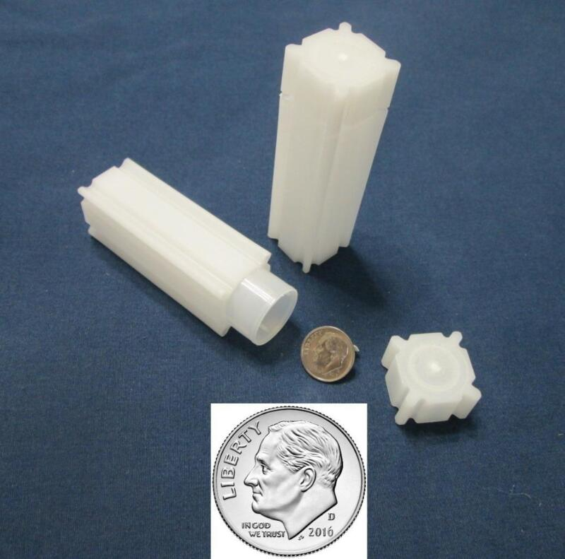 10 Dime Square Coin Tubes  Archival Quality  Dimes