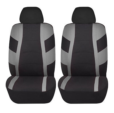 Racerline 4pc Low back Front Car Seat covers Polyester Universal Gray
