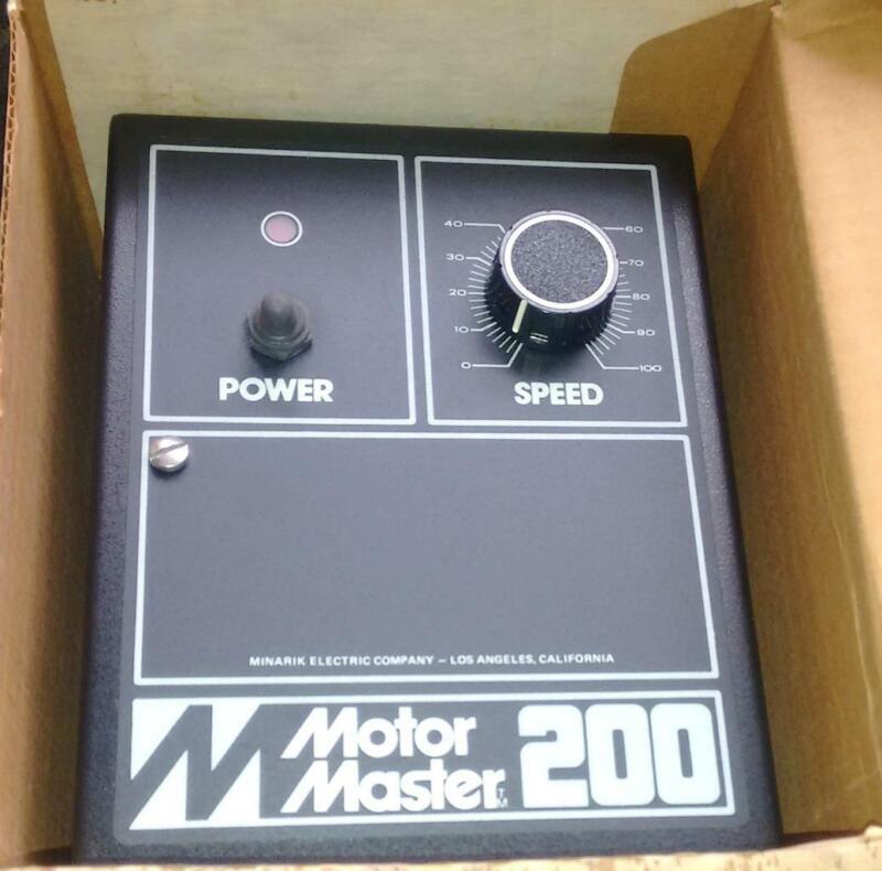 New Minarik  MM201  Motor Master 2 HP Speed Control DC Drive 230 VAC 12 Amp