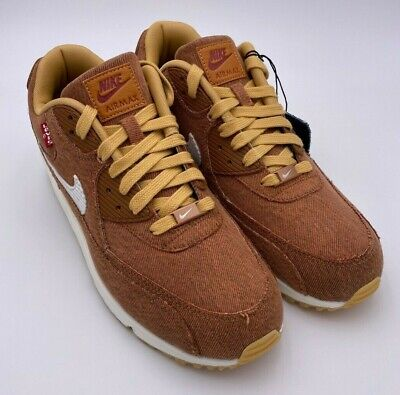 Levis x Nike By You Air Max 90 708279-988 Denim Hazelnut DS Mens Size 10 Limited