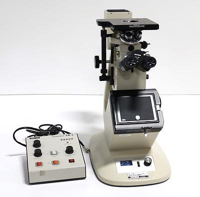 Unitron Versamet 2 Inverted Microscope With Epi Mpl Objectives