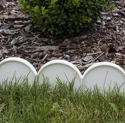Garden Plastic Fence Lawn Palisade Boarder Patio Fence Edge Fencing IKRA WHITE