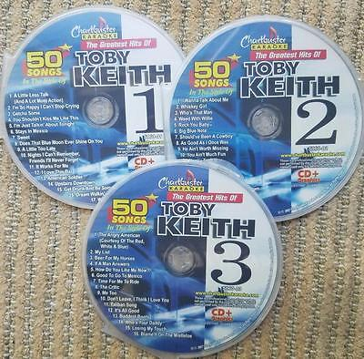 Toby Keith Country Karaoke Chartbuster Best Of 50 Songs 5060 Cd G New