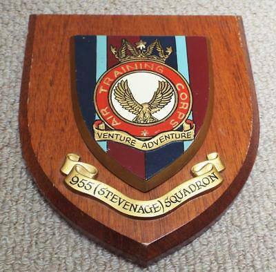 955 (Stevenage) Squadron ATC Military Wall Plaque Crest Shield Insignia - RAF Air Force Insignia Wall