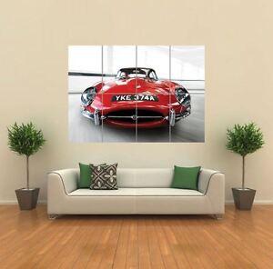 JAGUAR E TYPE CAR NEW GIANT LARGE ART PRINT POSTER PICTURE WALL G768