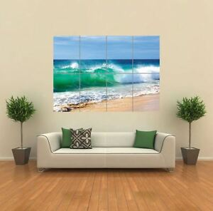 vague mer plage de surf nouveau mur poster g ant image impression artistique g804 ebay. Black Bedroom Furniture Sets. Home Design Ideas