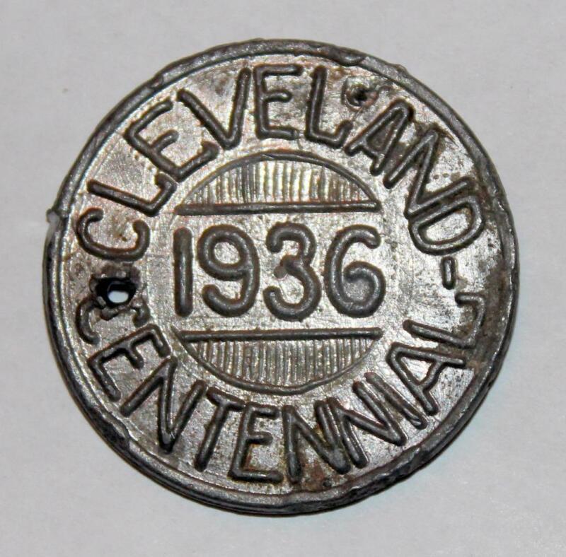 1936 Cleveland Centennial Great Lake Exposition Token