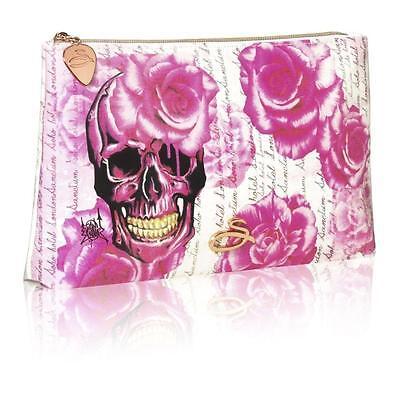 Sanctum Soho Womens Girls Rose Skull Cosmetic Make up Purse Biker Rock Chick   - Biker Chick Makeup