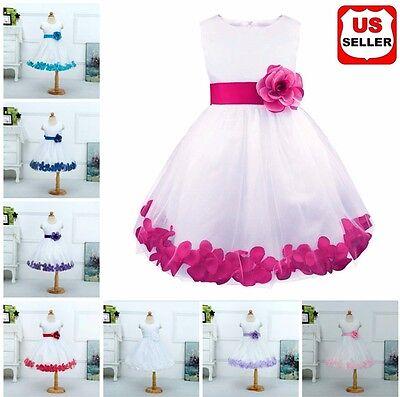 DH Wedding Flower Girl's Dress Flower Pageant Dress Up for Babygirl