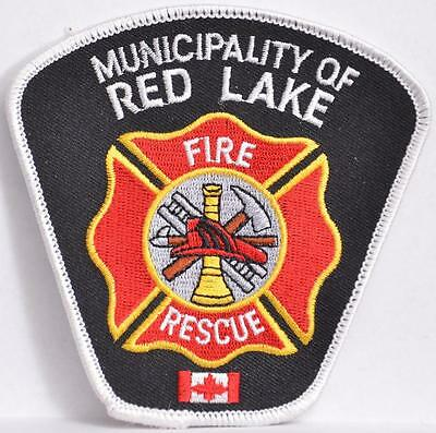 Red Lake Ontario Canada Fire Rescue Department Embroidered Shoulder Patch